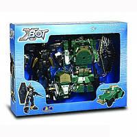 Игровой набор - Робот-Трансформер 15 см, танк зеленый, воин, X-BOT 82010R