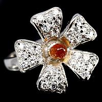 Гранат Спессартин, серебро 925, кольцо, 757КГ, фото 1