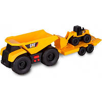 Мини-трейлер Самосвал и прицеп с погрузчиком 28 см, САТ, Toy State