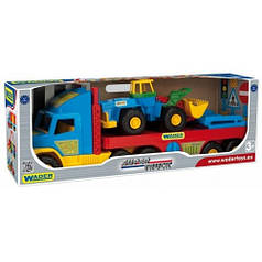 Super Truck, эвакуатор с трактором. 110 см, Wader 36520