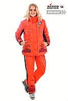 Костюм лыжный женский Avecs 0391 оранжевый влагостойкость 5000мм Omni Heat зима недорого | Avecs костюм размер