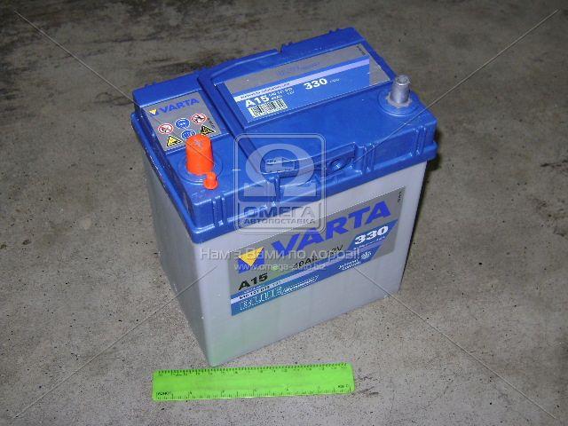 Аккумулятор   40Ah-12v VARTA BD(A15) (187х127х227),L,EN330 тонкие клеммы (арт. 540127033), rqn1