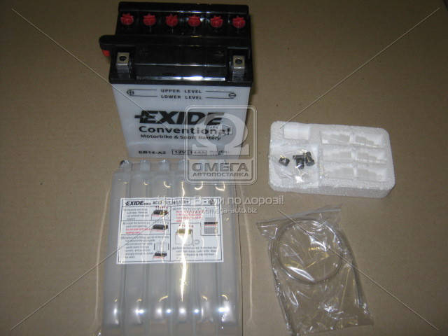 Аккумулятор   14Ah-12v Exide (EB14-A2) (134х89х166) L, EN145 (арт. EB14-A2), AEHZX