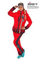 Костюм лыжный женский Avecs 0365 Red влагостойкость 5000 мм Omni Heat зима недорого | Avecs костюм размер