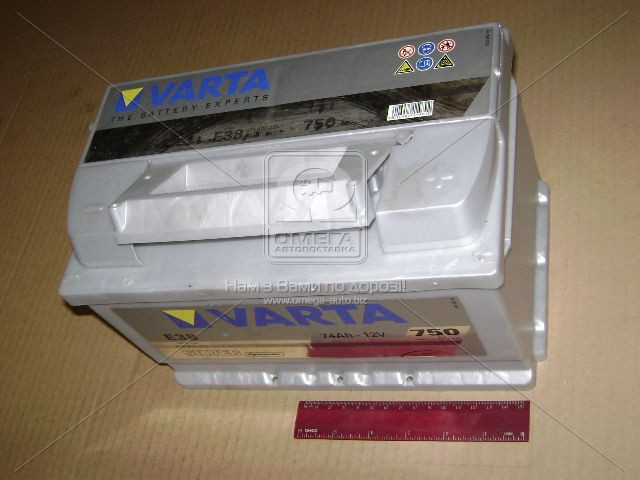Аккумулятор   74Ah-12v VARTA SD(E38) (278x175x175),R,EN750 (арт. 574402075), AGHZX