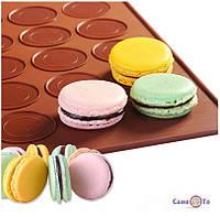Силіконовий килимок для випічки макарун, печива 40х30 см., 1001887