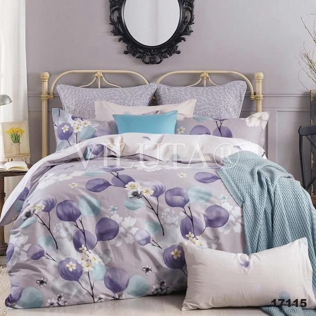Двуспальный набор постельного белья 180*220 из Ранфорса №17115 Viluta™