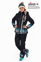 Костюм лыжный женский Avecs 0365 D.Blue влагостойкость 5000 мм Omni Heat зима недорого | Avecs костюм размер