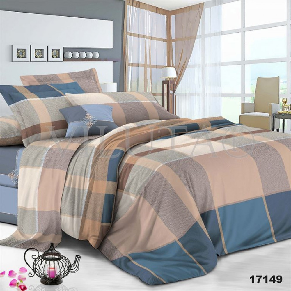 Двуспальный набор постельного белья 180*220 из Ранфорса №17149 Viluta™