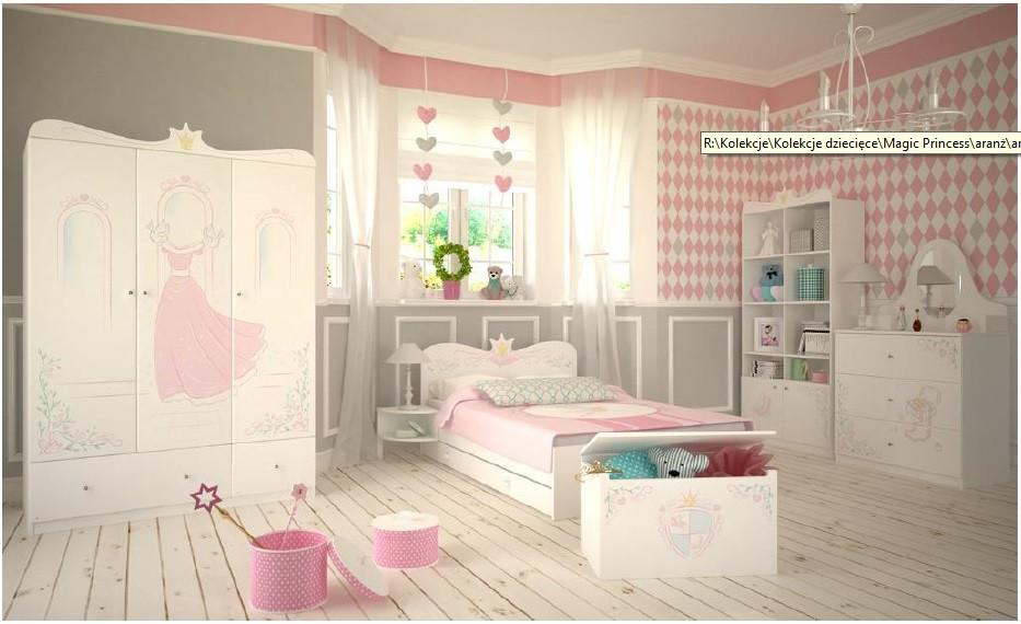 """Комплект мебели для девочки """"Волшебная принцесса"""", Meblik (Польша)"""