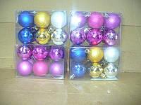 """Елочные шары 12 шт. в упаковке """" орехи """" ( диаметр 4 см ) матовые и глянцевые"""