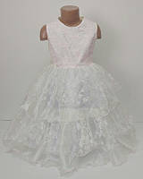 Пышное нарядное платье для девочки 4-7 лет, молния, шнуровка, Украина