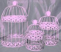 Клетки декоративные (70344 розовые) набор из 3 шт.