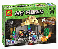 """Конструктор Minecraft Bela 10390 """"Подземелье"""",аналог Lego 21119"""