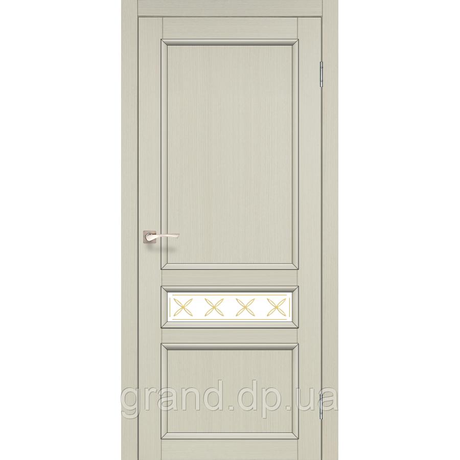 Двери межкомнатные Корфад CL-07 дуб беленый с матовым стеклом