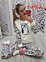 Женская тёплая пижама костюм для дома и сна в разных цветах