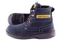 Зимние мужские ботинки CAT,синие