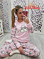Женская тёплая пижама костюм для дома и сна