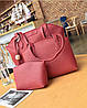 Женская сумка, маленькая сумочка и кошелек набор красный