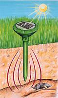 Отпугиватель грызунов (кротов) на солнечной батарее Solar Rodent Repeller ультразвуковой