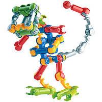 Шарнирный конструктор 63 деталей, конструктор zoob, детский конструктор, конструктор зуб, развивающий конструк