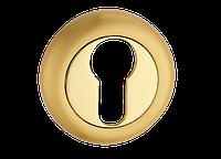 Накладка дверная под цилиндр MVM E5 PB/SB (полированная латунь/матовая латунь)