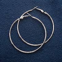 Серьги-кольца Mir-10762 в серебристом цвете диаметр 6 см