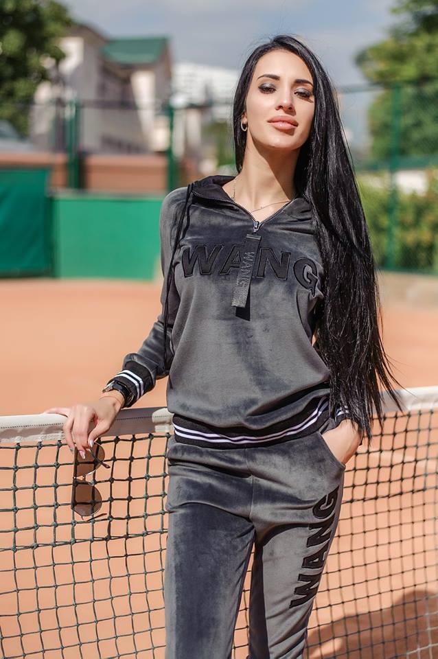 55567314 Женский плюшевый спортивный костюм