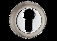 Накладка дверная под цилиндр MVM E5 SN/CP (матовый никель/полированный хром)
