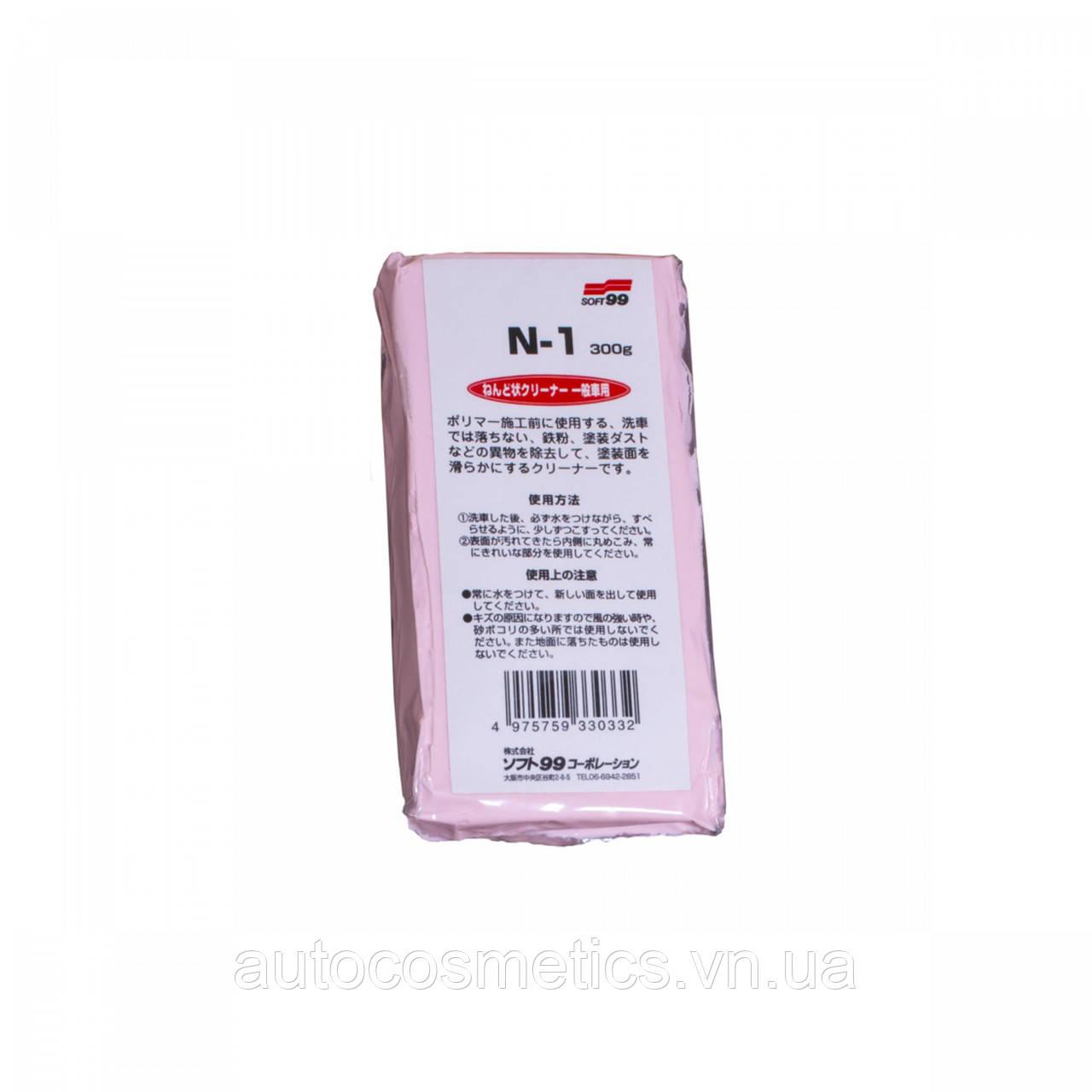Очиститель въевшихся загрязнений SOFT99 33033 Surface Smoother Pink  300гр