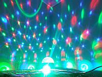 Светильник шар светомузыкальный для дискотек и клубов для создания световых эффектов Новогодняя 078n
