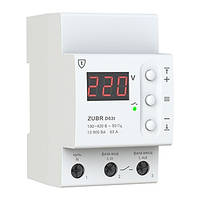 Реле напряжения ZUBR D63t с термозащитой (13900 ВА)