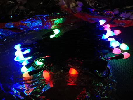 Гирлянда свечи матовые (фигура) 30 л. LED светодиодная 4 м., фото 2