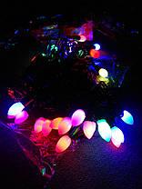 Гирлянда свечи матовые (фигура) 30 л. LED светодиодная 4 м., фото 3