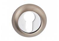 Накладка дверная под цилиндр MVM E9 SN/CP (матовый никель/полированный хром)