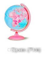 """Подарочный глобус для девочек Орион """"Pink""""Tecnodidattica с подсветкой 25 см, рус.яз"""