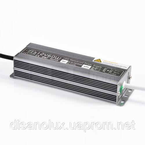 Блок питания  Герметичный 60W 12V (IP67,5A)
