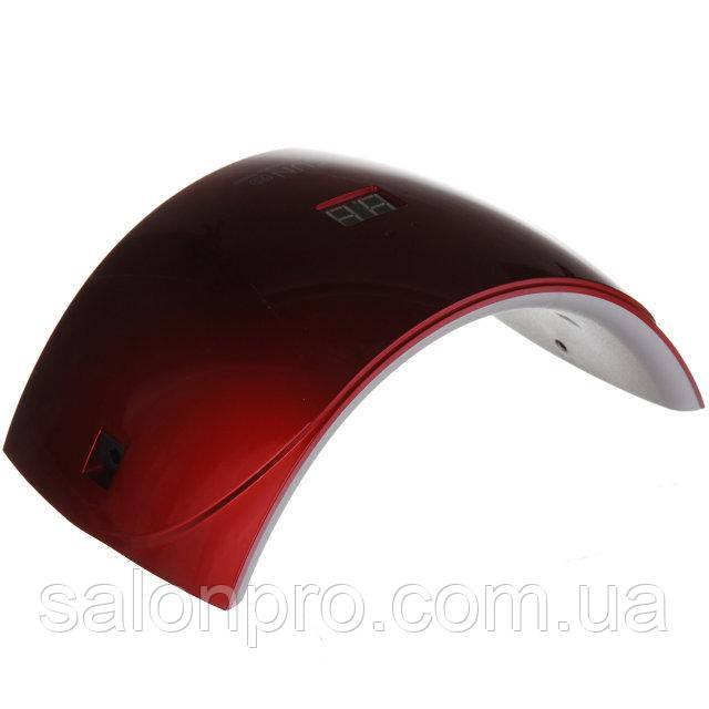 UV LED лампа Sun9S 24 Вт для геля и гель-лака (с дисплеем), красная