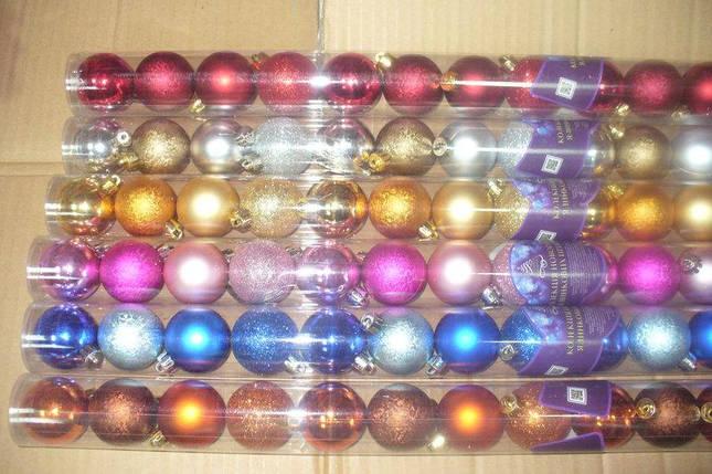 Елочные шары 12 шт. в упаковке ( диаметр 5 см ) матовые и глянцевые , упаковка колба, фото 2