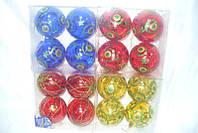 Елочные шары 4 шт. в упаковке  ( диаметр 10 см ) матовые и глянцевые , упаковка коробка