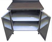 Стол тумба производственный с распашными дверями (эконом) ,размер 600x600x850