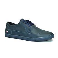 Кожаная обувь CR-7 Синие Dark Blue (40-43)