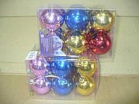 Елочные шары 12 шт. в упаковке ( диаметр 5 см )