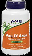 Кора муравьиного дерева, Pau D'Arco 500mg Now Foods, 100 caps