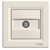 Розетка Schneider-Electric Asfora TV концевая (1 дБ) кремовая EPH3200123