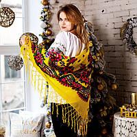 Українська хустка (125х125см), жовта -  Люрекс