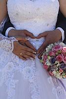 Букет невесты в розово-сиреневых тонах(альстрмерия,эустома)
