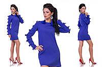 Женское мини платье длинный рукав