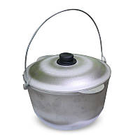 Алюминиевый казан с крышкой для приготовления еды, 8 л.