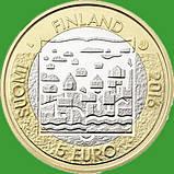 Финляндия 5 евро 2016 г. Президент Юхо Стольберг., фото 2